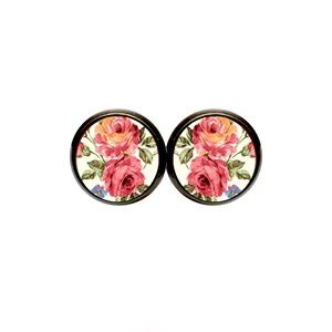 Country Mermaids Jewelry - Vintage Rose Earrings - Floral